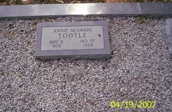 Annie Eliza <i>McSwain</i> Tootle