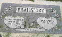 Dorothy <i>Whitesides</i> Brailsford