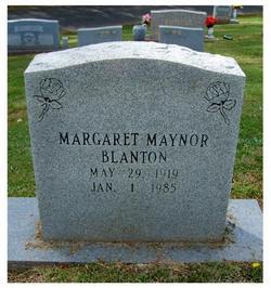 Margaret <i>Maynor</i> Blanton