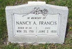 Nancy Ann <i>Mounts</i> Francis