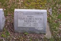 Hazel M <i>Cheek</i> Deakins