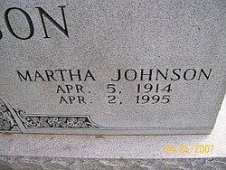 Martha <i>Johnson</i> Robertson