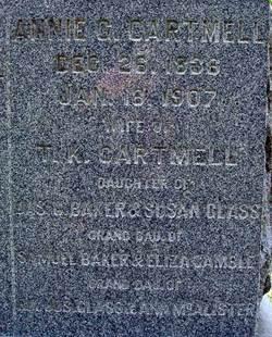 Annie Glass <i>Baker</i> Cartmell
