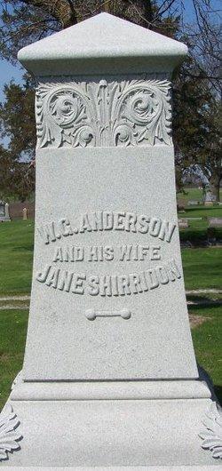 Jane <i>Shirridon</i> Anderson