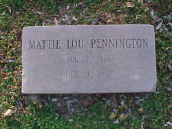 Mattie Lou <i>Martin</i> Pennington