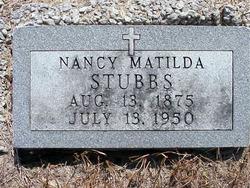Nancy Matilda <i>Hicks</i> Stubbs