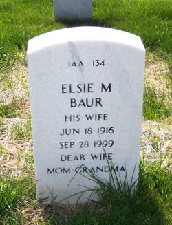 Elsie M Baur