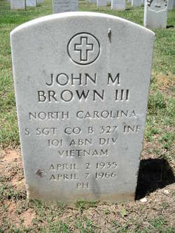 Sgt John Marshall Brown, III