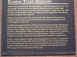 Elmina <i>Tyler</i> Behunin