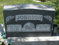Hyrum Royden Hy Johnson
