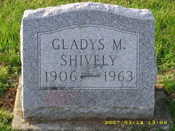 Gladys Malinda <i>Dickman</i> Shively