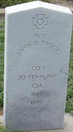 Pvt John D Brooks