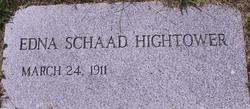 Edna Margaret <i>Schaad</i> Hightower