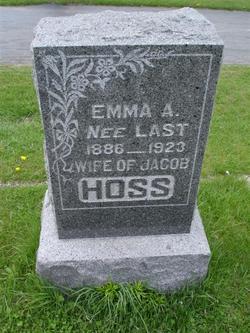 Emma A <i>Last</i> Hoss