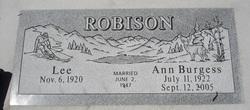 Ann <i>Burgess</i> Robinson