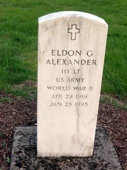 Lieut Eldon G Alexander