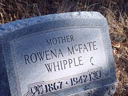 Rowena Celesta <i>McFate</i> Whipple
