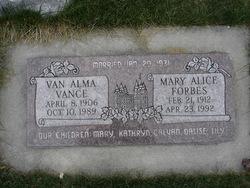 Van Alma Vance