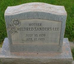 Mildred <i>Sanders</i> Lee