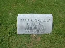 Effie <i>Hathaway</i> Ballard