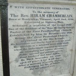 Rev Hiram Chamberlain