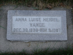 Anna Luise <i>Heidel</i> Vance