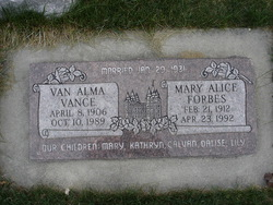 Mary Alice <i>Forbes</i> Vance
