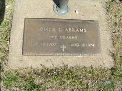 Pvt Omer L Abrams