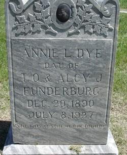 Anna Laura Annie <i>Funderburg</i> Dye