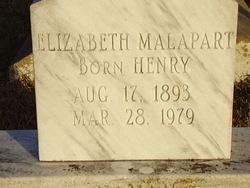 Elizabeth <i>Henry</i> Malapart