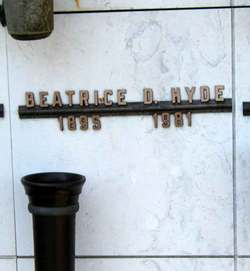 Beatrice D Hyde