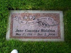 Jane <i>Couzens</i> Waldron