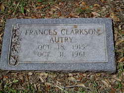 Frances Louise <i>Clarkson</i> Autry