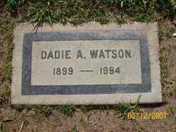 Dadie A <i>Mathis</i> Watson