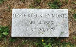 Orrie Blanche <i>Kleckley</i> Monts