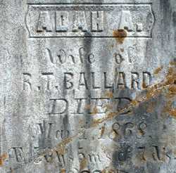Adah A <i>Hibbard</i> Ballard