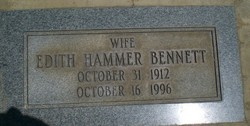 Edith Eunice <i>Hammer</i> Bennett