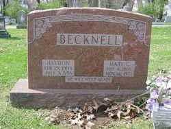 Hayden Thurman Becknell, Sr