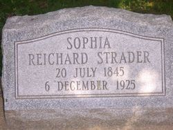 Sophia <i>Reichard</i> Strader