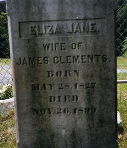 Eliza Jane <i>Allen</i> Clements