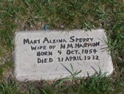 Mary Alzina <i>Sperry</i> Harmon