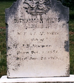 Duckey Thurman <i>Wilkes</i> Newman