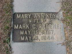 Mary Ann <i>Key</i> Greene