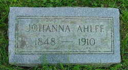 Johanna <i>K�hler</i> Ahlff