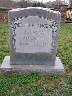 Edith Frances Johnson