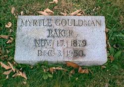 Myrtle E <i>Gouldman</i> Baker