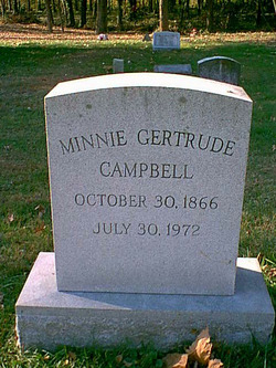 Minnie Gertrude <i>Fletcher</i> Campbell