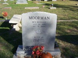 Betty Jo <i>Pennington</i> Moorman