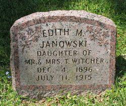 Edith M <i>Witcher</i> Janowski