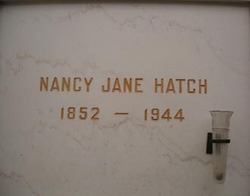 Nancy Jane <i>Hudgens</i> Hatch